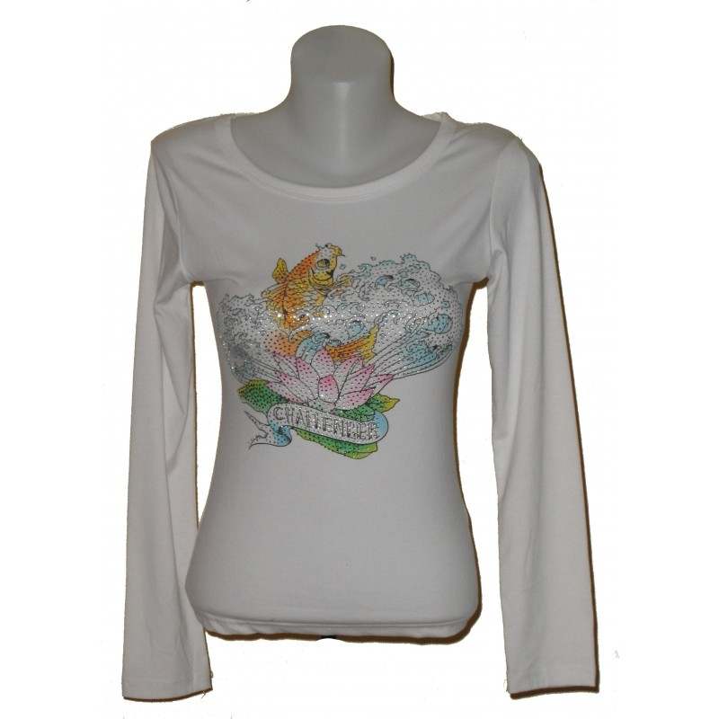 T-shirt manches longues, strass