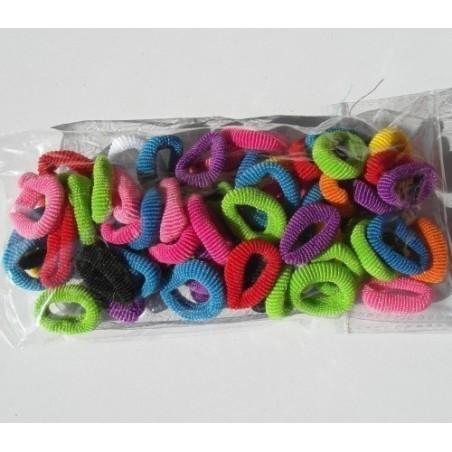 Paquets de petit élastique pour les cheveux, de toutes les couleurs,