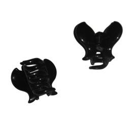 Petite pince crabe noire, forme papillon, 3cm