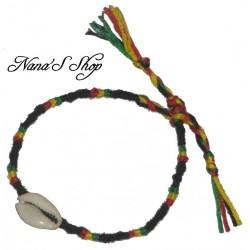 Bracelet brésilien, avec coquillage