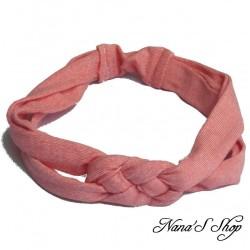 Bandeaux à cheveux, en jersey, rose chiné