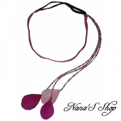 Headband bijoux, plumes color