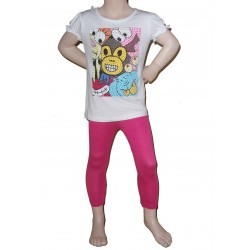 Leggings rose fuchsia, fille