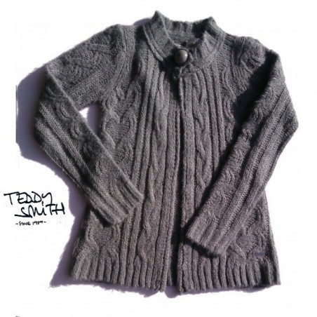 Gilet 1 bouton, Gris, Teddy Smith, Fille