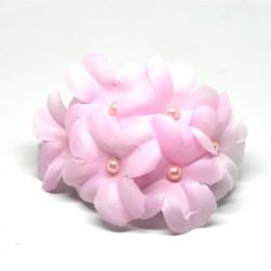 Pince à cheveux à clipser, fleurs rose pâle