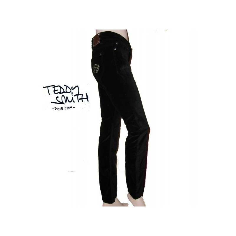 Pantalon noir en velours, Teddy smith,