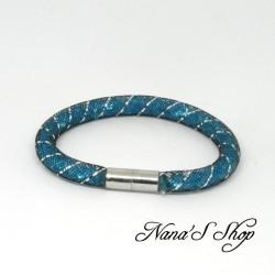 Bracelet grosse résille noire, Stardust