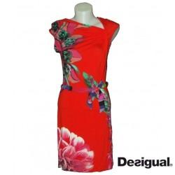Robe courte rouge Desigual vest septiembre