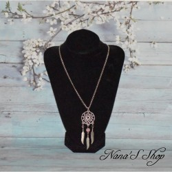 collier, sautoir chaine, dreamcatcher