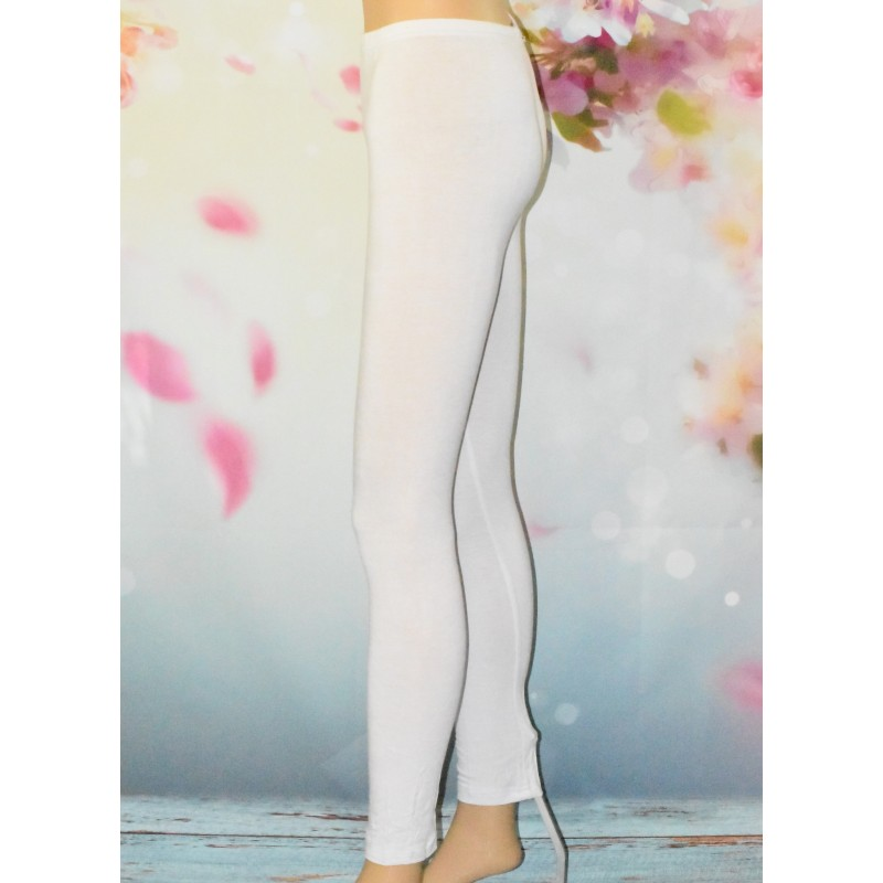 Legging simple et uni, blanc