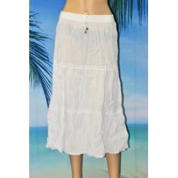 Longue jupe, plissée, blanche, PALME