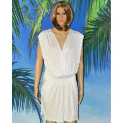 Robe croisée, blanche