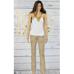 Pantalon en coton beige, Desigual