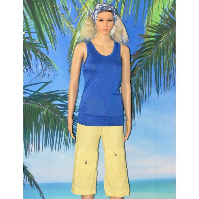 Pantacourt en lin, School Rag, jaune ou bleu