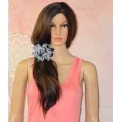 Fleur 2 en 1, élastique à cheveux ou broche,