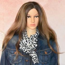 Fleur 5 en 1, foulard, broche et pince, différents modèles