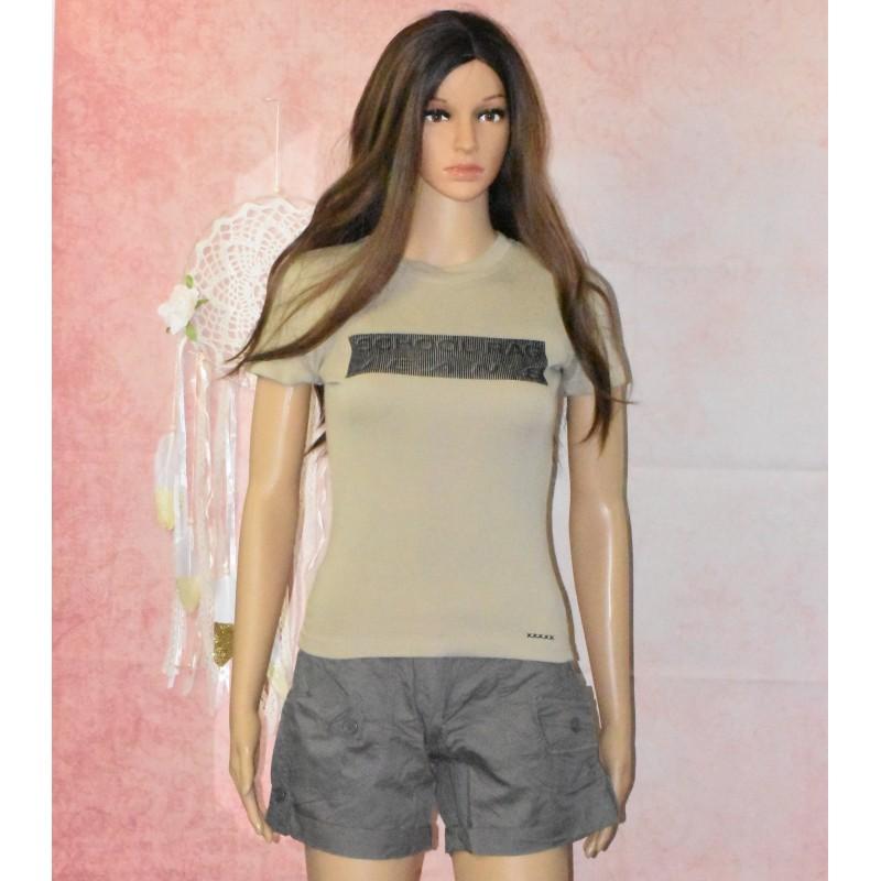 T-shirt manches courte, impression velours, School Rag,