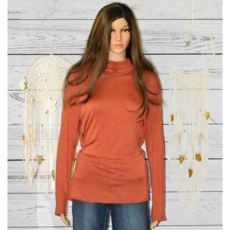 Sous pull rouille, Duccio di bruni, Grande taille,