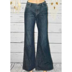 Jeans brut, taille haute, School rag