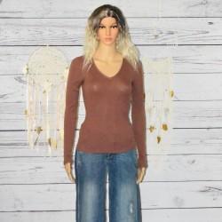 T-shirt manches longues Col V, School Rag,