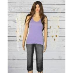 Pantacourt en jeans gris, School Rag