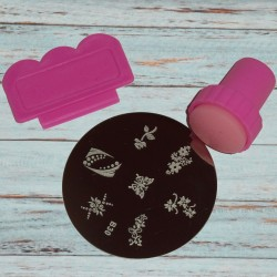 Kit nail art stamping, kit tampon pour les ongles, Yes Love