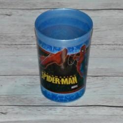 Verre Spiderman, en plastique, Bleu