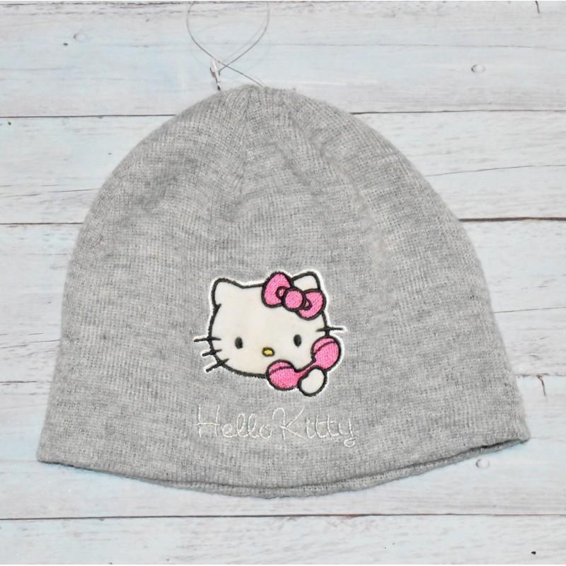 Bonnet fille, Hello Kitty Gris