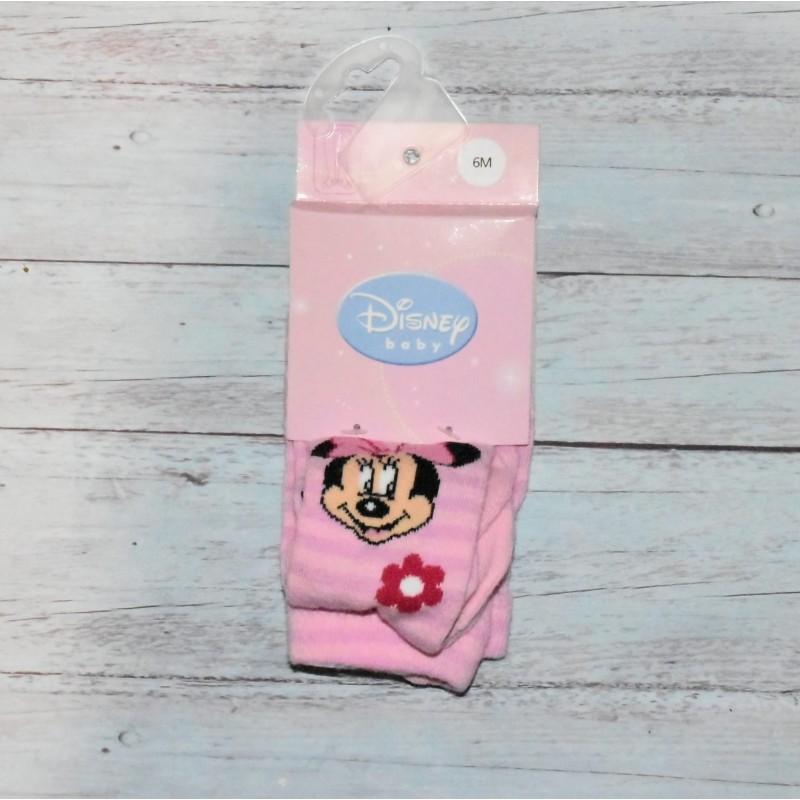 Collant bébé rose à rayures, Minnie