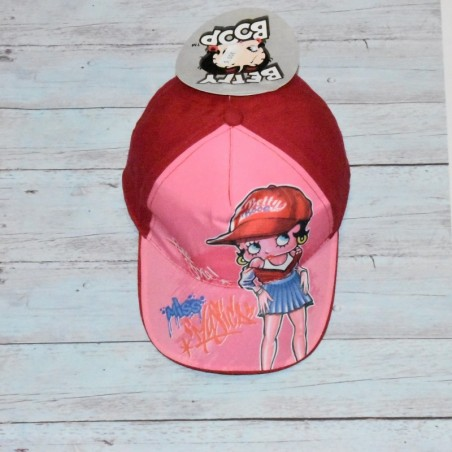 Casquette Betty boop, rouge, pour fille