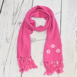 Echarpe en laine Petite fleur, Rose
