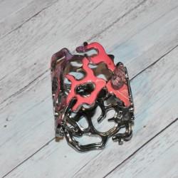 Bracelet corail émaillé, Desigual