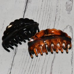 Pince crabe XL 9cm, coloris noir ou marron écaille