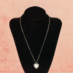 Chaine et pendentif coeur en strass