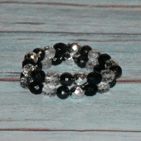 Bracelet en plastique, double rang