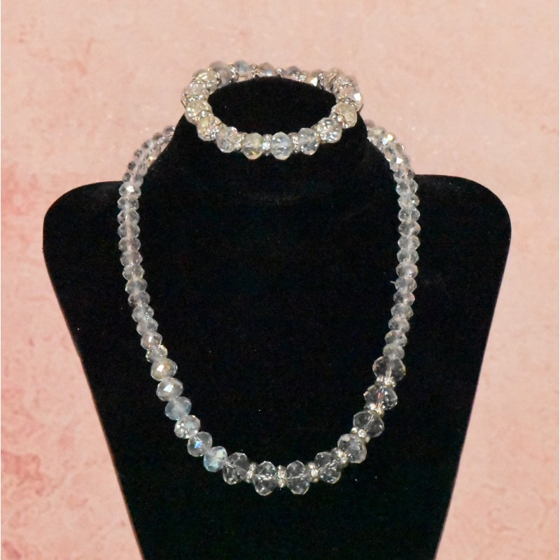Parure en cristal, Bracelet et collier