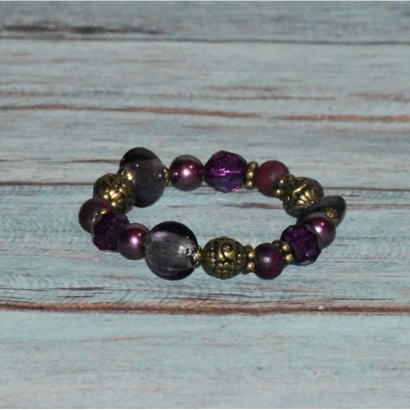 Bracelet élastique, perles fantaisie,