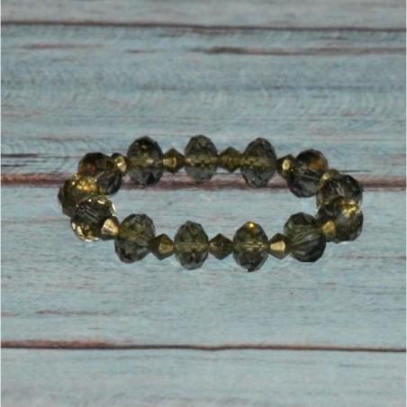 Bracelet élastique, en cristal transparent