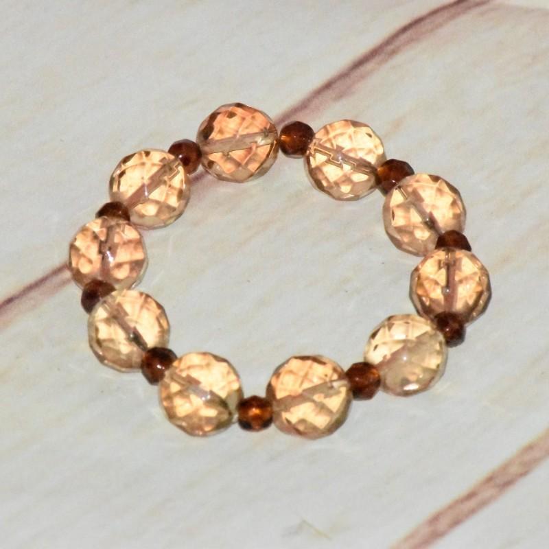 Bracelet en grosse perles de cristal