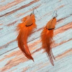 Boucles d'oreilles plumes, 13cm