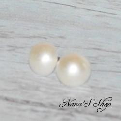 Boucles d'oreilles demi boule, nacré (2 modèles)