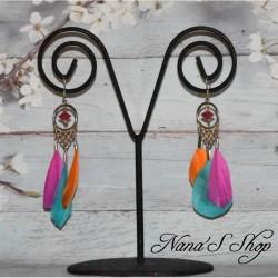 B.O plumes multicolore,