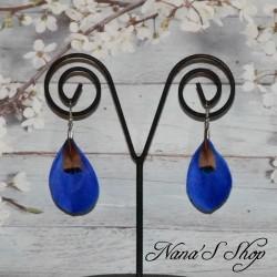 Boucles d'oreilles duo de plumes simple, différents coloris