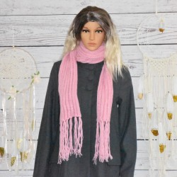 Echarpe en laine, orange ou rose