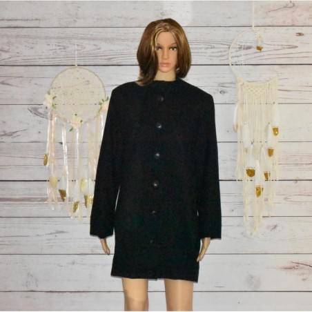 Manteaux noir, en laine, School Rag ,