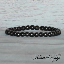 Bracelet perles hématite