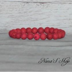 Bracelet perles lave 8mm, différents coloris