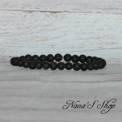 Bracelet perles lave noire
