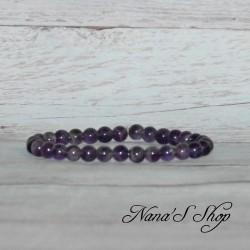 Bracelet perles Améthyste