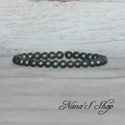 Bracelet perles hématite couleur